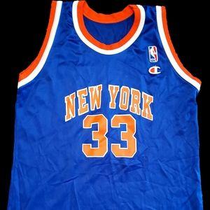Vintage Patrick Ewing Champion basketball jersey